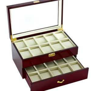 Diplomat 20 Watch Case Cherry Finish