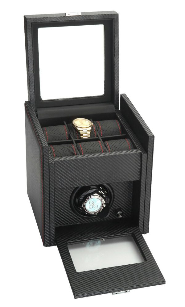 Diplomat 6 Watch Winder Carbon Fiber