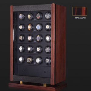 Avanti 24 watch winder enclosed in a handsome Brazilian Rosewood