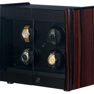 Orbita Avanti 4 Automatic Rotorwind Watch Winder Macassar/Carbon Fiber