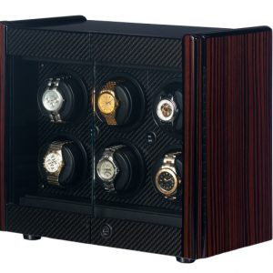 Orbita Avanti 6 Automatic Watch Winder Macassar Carbon Fiber Programmable