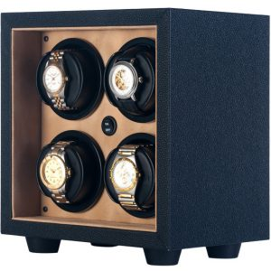 Orbita In-Safe 4 Rotorwind Automatic Watch Winder- Open Front Black/Creme