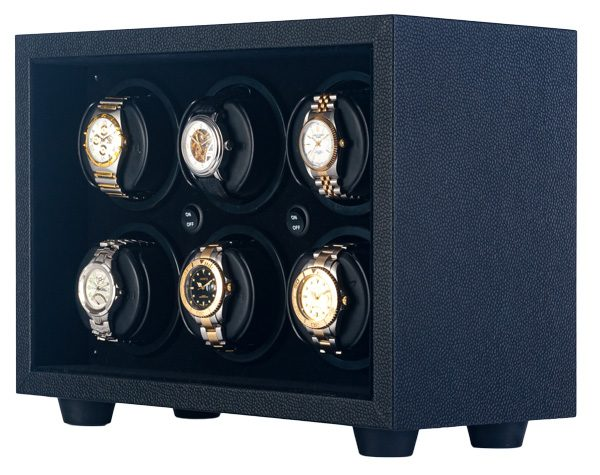 Orbita In-Safe 6 Rotorwind Automatic Watch Winder Black