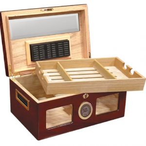 Valencia Cigar Humidor Glass Top - Cherry - 120 Cigars