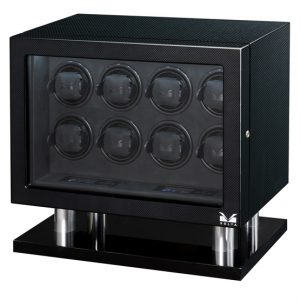 Volta 8 Watch Winder Carbon Fiber Finish LCD Controls