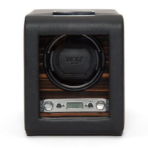 Wolf Macassar single watch winder